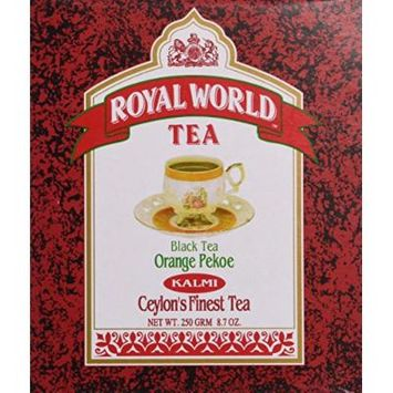 Royal World Orange Pekoe Kalmi Black Tea, 250 Gram (Pack of 24)