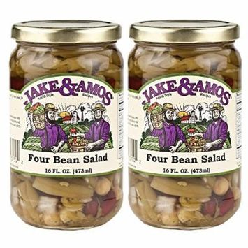 Jake & Amos, Amish Style, 4 (Four) Bean Salad / 2 - 16 Oz. Jars