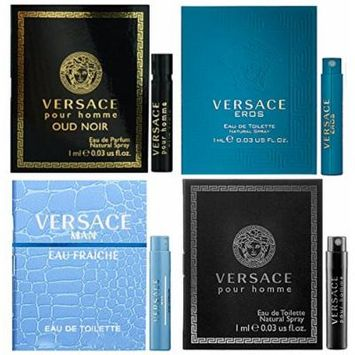 VERSACE for Men - Pour Homme, Man Eau Fraiche, Eros, & Oud Noir - Lot of 4 Sample Spray Vials