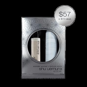 shu uemura tousled texture styling duo luxury gift set