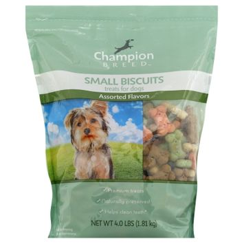 Champion Breed Treats for Dogs, Small Biscuits, Assorted Flavors, 4 lb (1.81 kg) - KMART CORPORATION